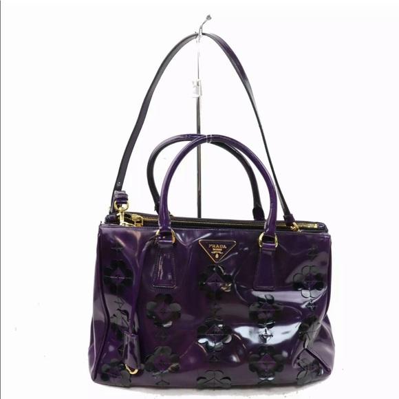75f2b492b6db7a Prada Bags | Floral Applique Spazzolato Bauletto Bag | Poshmark